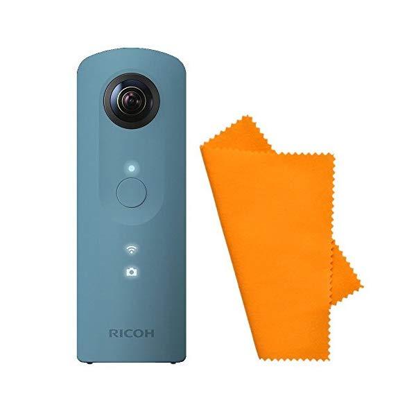 【シリコンクロス付き】 リコー デジタルカメラ THETA SC ブルー 【快適家電デジタルライフ】