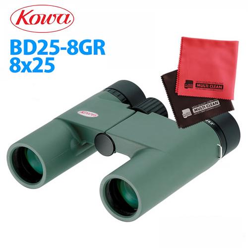 【マイクロファイバークロスセット】 コーワ 双眼鏡 BD25-8GR 【快適家電デジタルライフ】