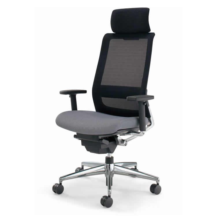 KOKUYO オフィスチェア エアフォート(AIRFORT) CR-GA2343 [ヘッドレスト・上下肘付] 【キャスター・カラー選択式】【快適家電デジタルライフ】