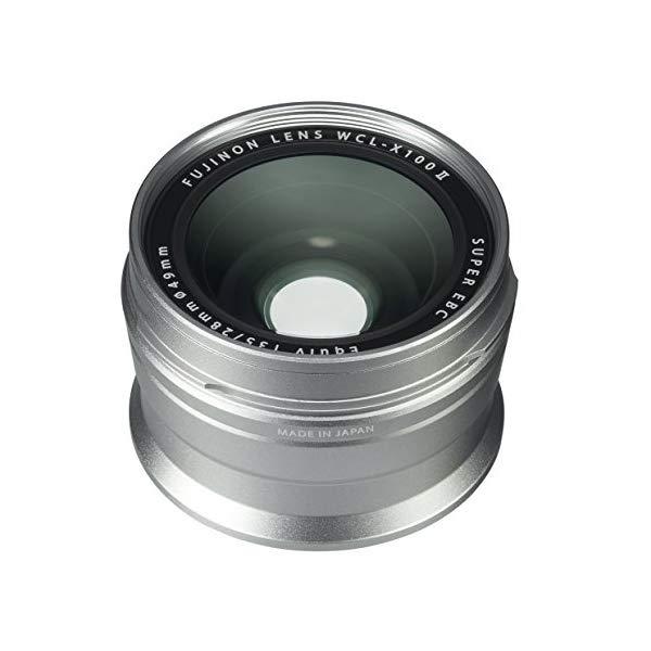 FUJIFILM 【フジフイルム】 ワイドコンバージョンレンズ WCL-X100II [カラー選択:シルバー/ブラック]【快適家電デジタルライフ】