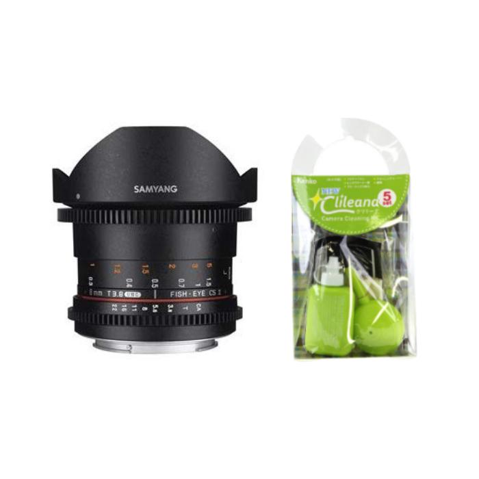 [クリーニングセット付き!]交換レンズ サムヤン VDSLR 8mm T3.8 キヤノン(フード脱着式)用(快適家電デジタルライフ)