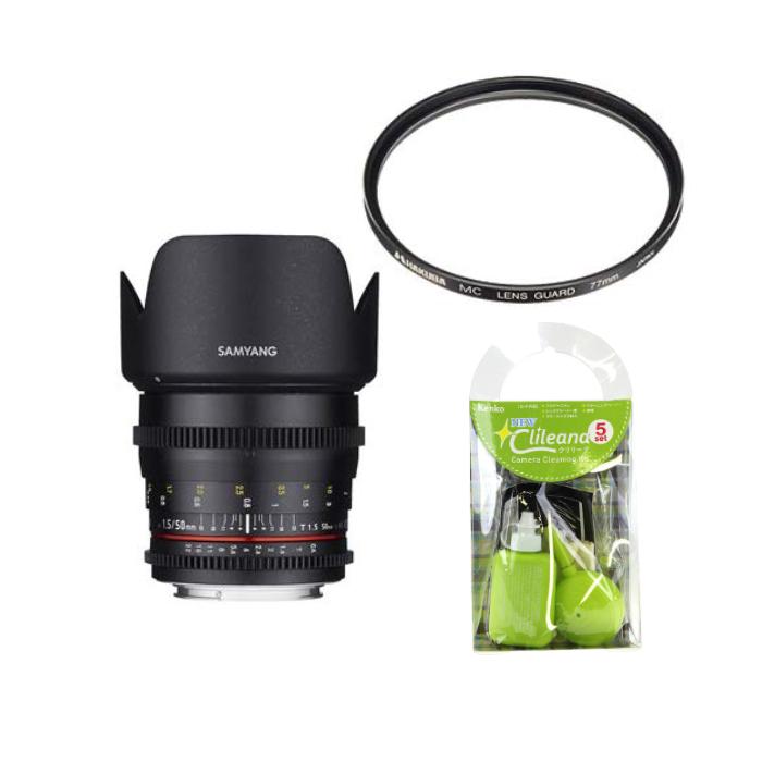 [レンズフィルター&クリーニングセット付き! ]交換レンズ サムヤン VDSLR 50mm T1.5 ペンタックス用(快適家電デジタルライフ)