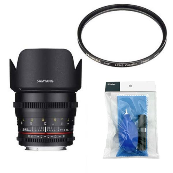 [レンズフィルター&クリーニングセット付き! ]交換レンズ サムヤン VDSLR 50mm T1.5 キヤノンM用(快適家電デジタルライフ)