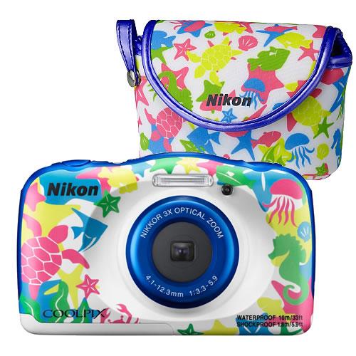 【純正カメラポーチセット】 Nikon (ニコン) COOLPIX W100 ブルー [coolpixw100][NIKON]【快適家電デジタルライフ】