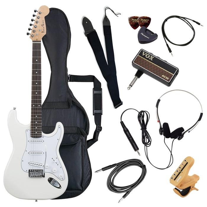 (メーカー直送)(代引不可) ST-180/WH ホワイト PhotoGenic エレキギター (ホームショッピングオリジナル ヘッドフォンアンプ ギターセット) (ラッピング不可)