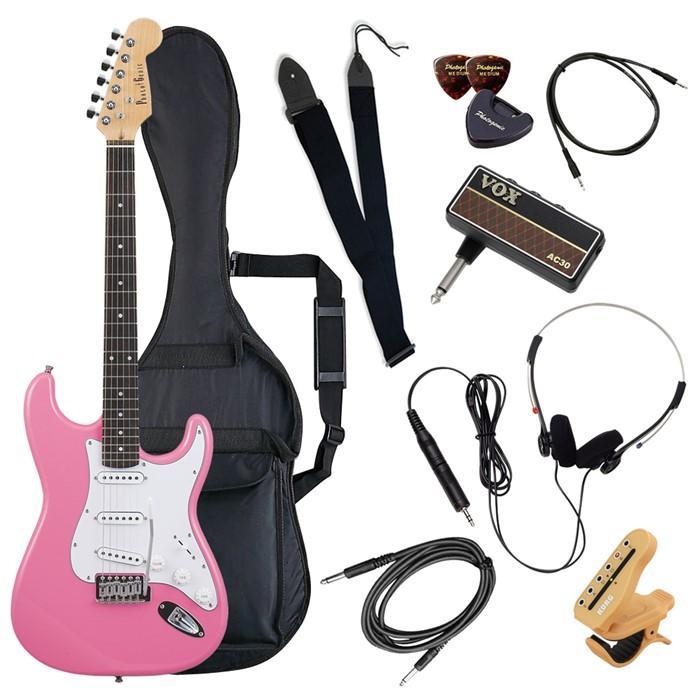 (メーカー直送)(代引不可) ST-180/PK ピンク PhotoGenic エレキギター (ホームショッピングオリジナル ヘッドフォンアンプ ギターセット) (ラッピング不可)