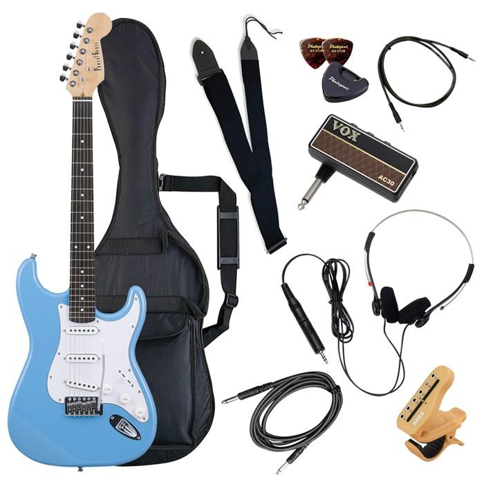 (メーカー直送)(代引不可) ST-180/UBL ライトブルー PhotoGenic エレキギター (ホームショッピングオリジナル ヘッドフォンアンプ ギターセット) (ラッピング不可)