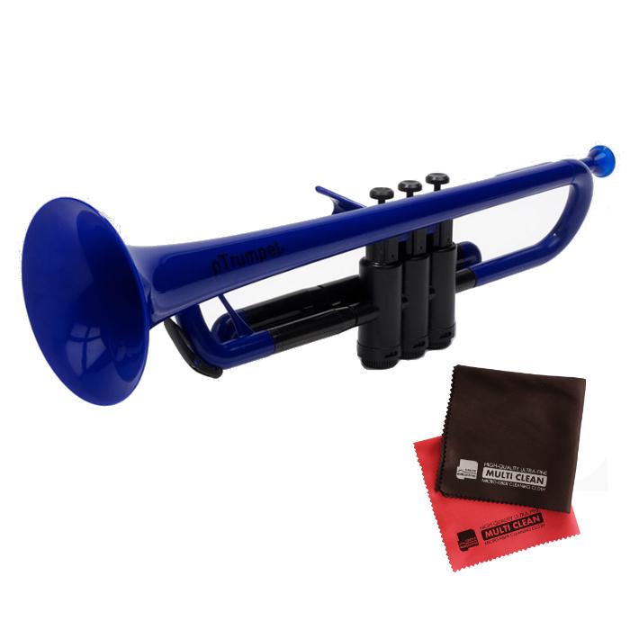 (国内正規品) (プラスチック楽器)PINSTRUMENTS PTRUMPET1B / BLUE ブルー &当社オリジナルクロス2枚セット (PTRUMPET/ピー・トランペット)(ピーインストゥルメンツ) (ラッピング不可)(快適家電デジタルライフ)