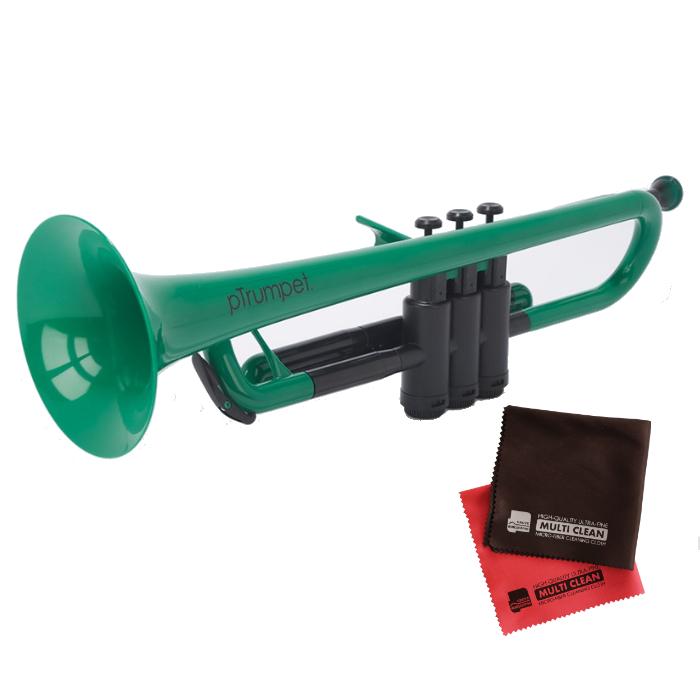 (国内正規品) (プラスチック楽器)PINSTRUMENTS PTRUMPET1G / GREEN グリーン &当社オリジナルクロス2枚セット (PTRUMPET/ピー・トランペット)(ピーインストゥルメンツ) (ラッピング不可)(快適家電デジタルライフ)