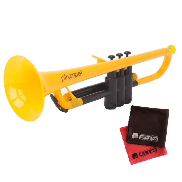 (国内正規品) (プラスチック楽器)PINSTRUMENTS PTRUMPET1Y / YELLOW イエロー &当社オリジナルクロス2枚セット (PTRUMPET/ピー・トランペット)(ピーインストゥルメンツ) (ラッピング不可)(快適家電デジタルライフ)