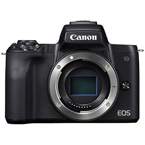 キヤノン EOS Kiss M ブラック ボディー (2682C001) ミラーレス一眼カメラ (Canon)