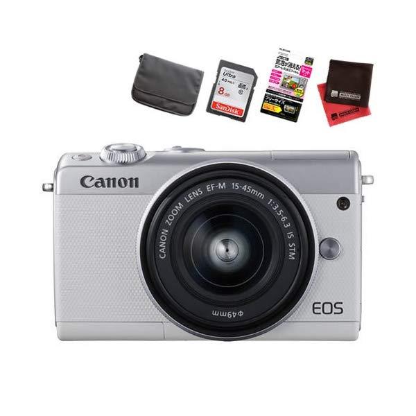 【お買い得セット!】キヤノン EOS M100 EF-M15-45 IS STM レンズキット ミラーレスカメラ [カラー選択式][Canon]【快適家電デジタルライフ】