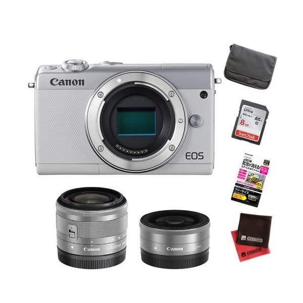 【お買い得セット!】キヤノン EOS M100 ダブルレンズキット ミラーレスカメラ [カラー選択式][Canon]【快適家電デジタルライフ】