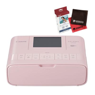 【フォト用紙&クロス付】キヤノン SELPHY CP1300(PK) ピンク コンパクトフォトプリンター [セルフィー][Canon]【快適家電デジタルライフ】