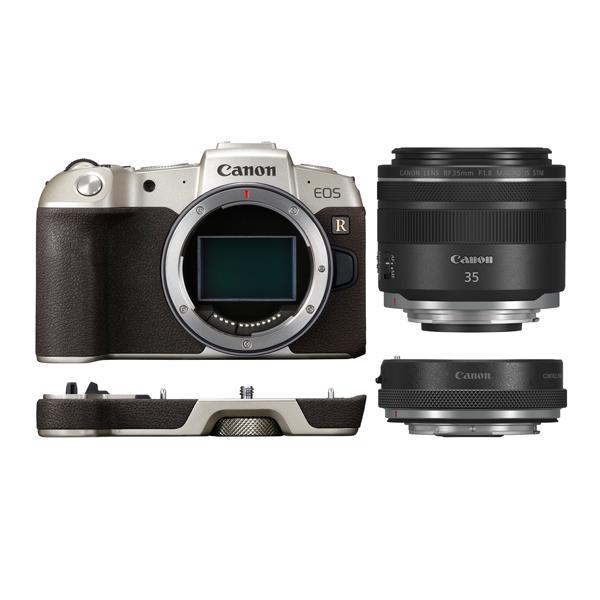 キヤノン ミラーレスカメラ EOS RP(ゴールド)・RF35 MACRO IS STM マウントアダプターSPキット EOSRPGL-35MISMADK (商品コード:3381C004)(Canon)(快適家電デジタルライフ)