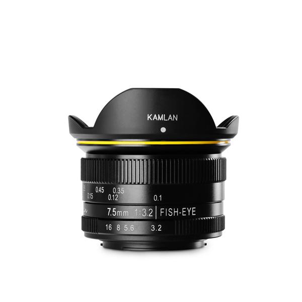 KAMLAN カムラン 単焦点レンズ FS 7.5mm F3.2 マイクロフォーサーズ用 KAM0001 (フィッシュアイ/魚眼レンズ)(国内正規品)(快適家電デジタルライフ)