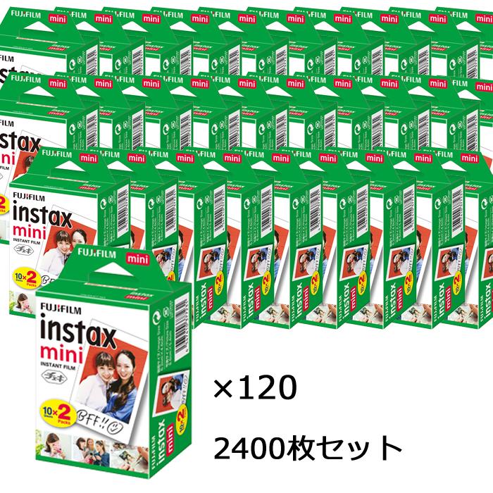 【送料無料】富士フィルム チェキフイルム instax mini 2パック品 JP2(20枚入り)×120個セット [2400枚入] (快適家電デジタルライフ)