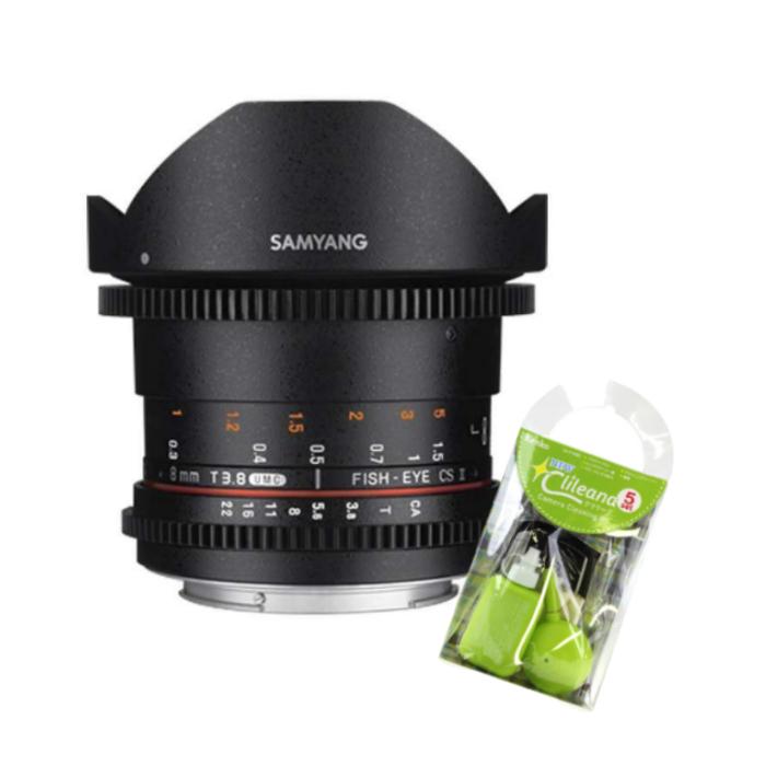 [クリーニングセット付き!]交換レンズ サムヤン VDSLR 8mm T3.8 ソニーα(フード脱着式)用(快適家電デジタルライフ)