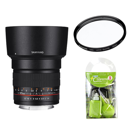 [レンズフィルター&クリーニングセット付き! ]交換レンズ サムヤン 85mm F1.4 キャノン用(快適家電デジタルライフ)