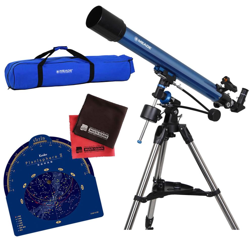 (キャリーバッグ・星座盤・クロスセット)MEADE ミード 天体望遠鏡 EQM-70 口径70mm エントリーモデル (EQM70) (ラッピング不可)(快適家電デジタルライフ)