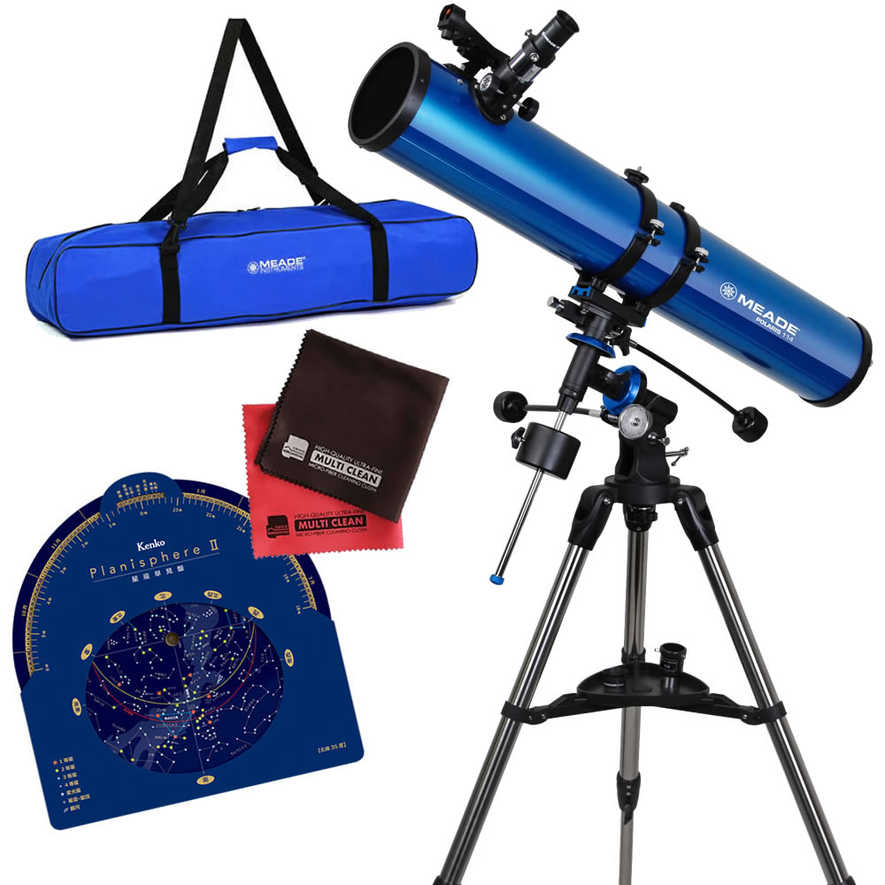 (キャリーバッグ・星座盤・クロスセット)MEADE ミード 天体望遠鏡 EQM-114 口径114mm エントリーモデル (EQM114) (ラッピング不可)(快適家電デジタルライフ)