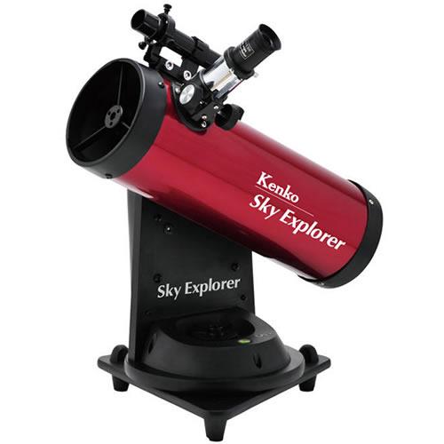 【★プラネタリウムソフト等セット】Kenko 天体望遠鏡 SkyExplorer SE-AT100N RD【快適家電デジタルライフ】