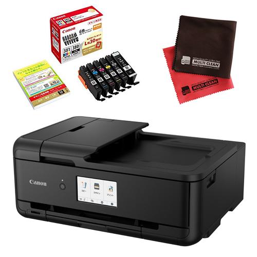 (インク・クロスセット)キヤノン インクジェットプリンター TR9530 ブラック TR9530BK (2994C001) (キャノン/Canon)(快適家電デジタルライフ)