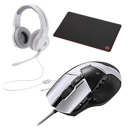 (マウスパッド&ヘッドセット付)エレコム 13ボタン搭載ハイスペックゲーミングマウス M-G02URWH ホワイト 有線ケーブル接続タイプ (elecom)(快適家電デジタルライフ)