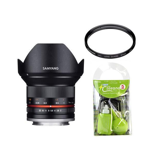 [レンズフィルター&クリーニングセット付き! ]交換レンズ サムヤン 12mm F2.0 マイクロ4/3 BK用(快適家電デジタルライフ)