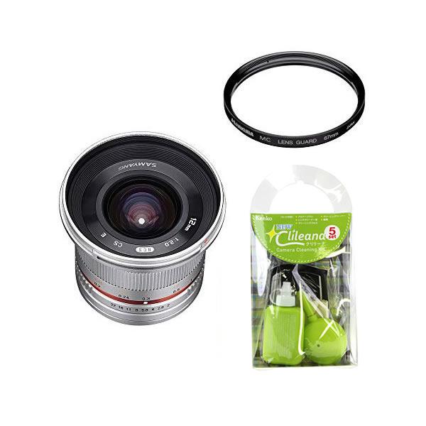 [レンズフィルター&クリーニングセット付き! ]交換レンズ サムヤン 12mm F2.0 キヤノンM用 SV(快適家電デジタルライフ)