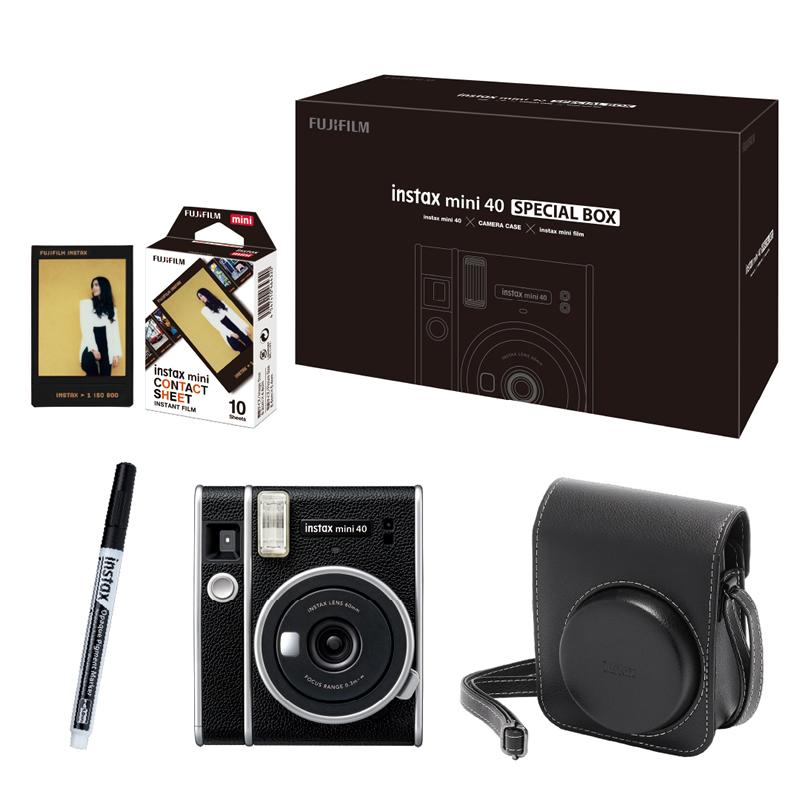 instax mini40本体 専用ケース フィルム フォトペン入りのギフトBOX 店内限界値引き中 セルフラッピング無料 富士フイルム チェキ mini 40 プレゼント クラシック SPECIAL チェキカメラ フィルムカメラ レトロ スペシャルボックス 快適家電デジタルライフ インスタントカメラ BOX