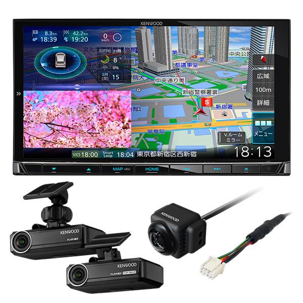 (リアビューカメラ・ドラレコ付)ケンウッド 彩速ナビ MDV-M906HD 180mmモデル AVナビゲーションシステム カーナビ (KENWOOD) (ラッピング不可)(快適家電デジタルライフ)