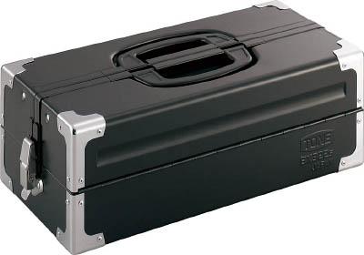【代引不可】【メーカー直送】 TONE【工具箱・ツールバッグ】ツールケース(メタル) V形2段式 マットブラック BX322SBK (3904369)【ラッピング不可】