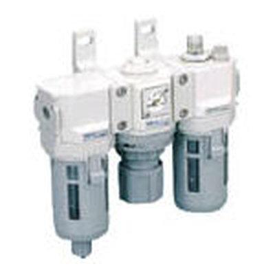 【代引不可】【メーカー直送】 CKD【空圧・油圧機器】FRLコンビネーション C40008W (3444431)【ラッピング不可】