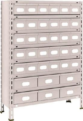 【代引不可】【メーカー直送】 TRUSCO トラスコ中山 【物品棚】 軽量棚 875X300XH1200 スチール引出 小X30 大X6 43V808A5B2 (5103347)【ラッピング不可】【快適家電デジタルライフ】