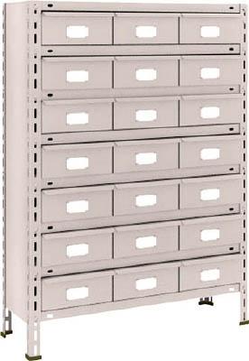 【代引不可】【メーカー直送】 TRUSCO トラスコ中山 【物品棚】 軽量棚 875X300XH1200 スチール引出 大X21 43V808B7 (5103339)【ラッピング不可】【快適家電デジタルライフ】