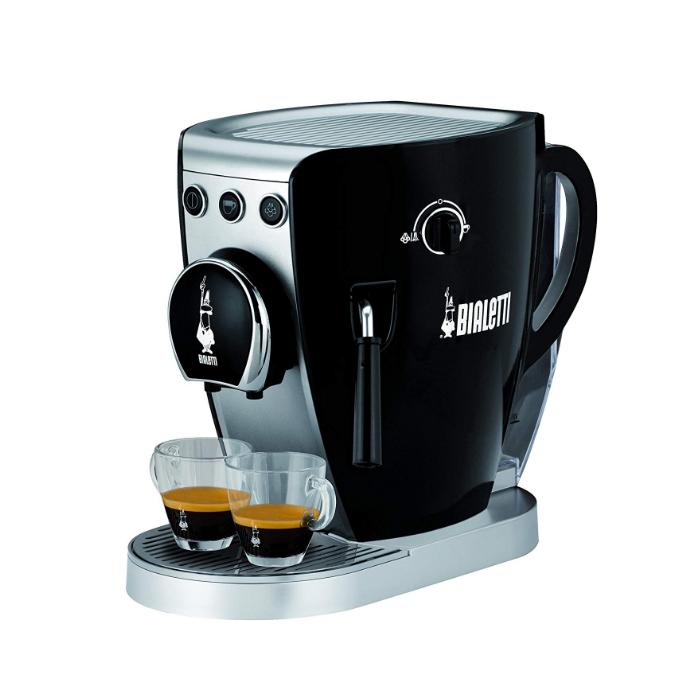 クリンプ(QLINP) エスプレッソマシン タジッシマ CF37-BK ブラック [Bialetti/ビアレッティ][コーヒー器具]【快適家電デジタルライフ】