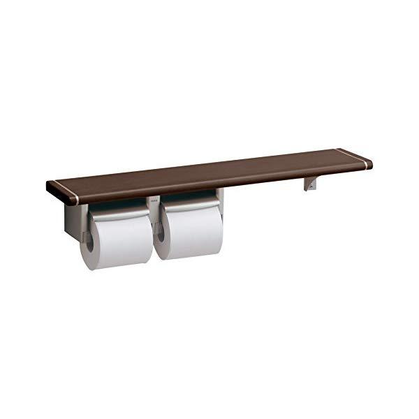TOTO 棚付二連紙巻器 YHB62NS #NRW ナチュラルウッド [ペーパーホルダー][トイレ設備用品]【快適家電デジタルライフ】