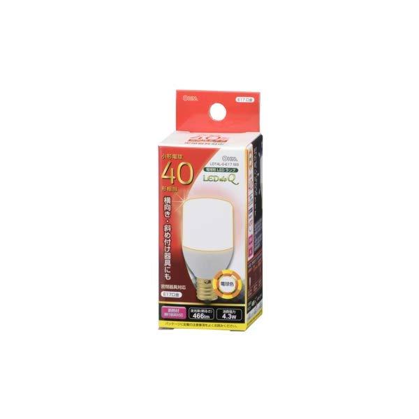 【12本セット】オーム電機 LED電球 LDT4L-G-E17 IS9 (06-0299) [40W形相当/E17][電球色]【快適家電デジタルライフ】