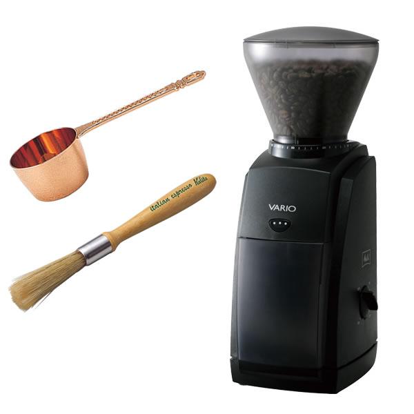 【銅メジャーカップ・クリーニングブラシ付き!】メリタ(Melitta) 家庭用コーヒーグラインダー VARIO-E CG-121 [VARIOE][ミル]【快適家電デジタルライフ】