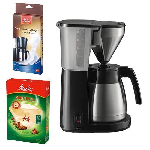 【3~10杯用】メリタ LKT-1001 イージートップサーモ [コーヒーメーカー][LKT1001][Melitta]【快適家電デジタルライフ】