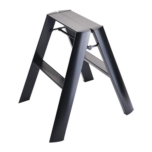 (メーカー直送)(代引不可) 長谷川工業 踏み台 ML2.0-2(BK) lucano ルカーノ 2-step ブラック 最大使用質量:100kg (HASEGAWA) (快適家電デジタルライフ)
