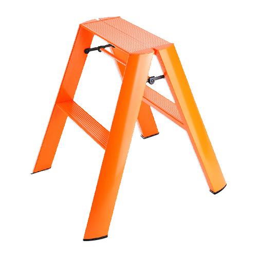 (メーカー直送)(代引不可) 長谷川工業 踏み台 ML2.0-2(OR) lucano ルカーノ 2-step オレンジ 最大使用質量:100kg (HASEGAWA) (快適家電デジタルライフ)