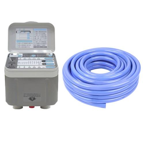 【ガーデン用品セット】 藤原産業 セフティ-3 自動水やり器 SAW-1 + セフティ-3 耐寒耐圧耐藻ホース 20M TTTH-1520 セット(ラッピング不可)