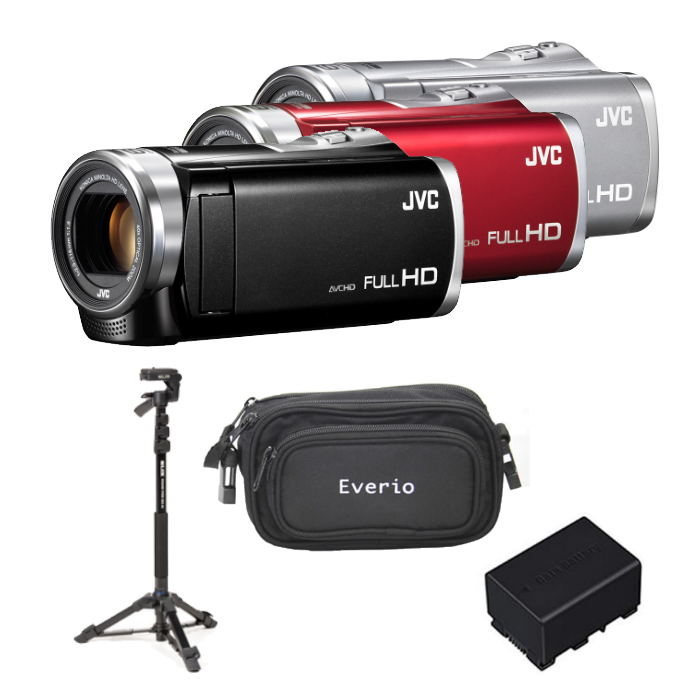 (4点セット)JVCケンウッド ハイビジョンメモリームービー GZ-E880 [Everio/エブリオ][ムービーカメラ][ビデオカメラ][運動会](快適家電デジタルライフ)