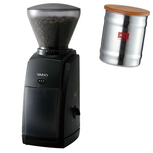 (ステンレスキャニスターセット)メリタジャパン 家庭用コーヒーグラインダー VARIO-E CG-121 [ミル][VARIOE][Melitta] (ラッピング不可)(快適家電デジタルライフ)