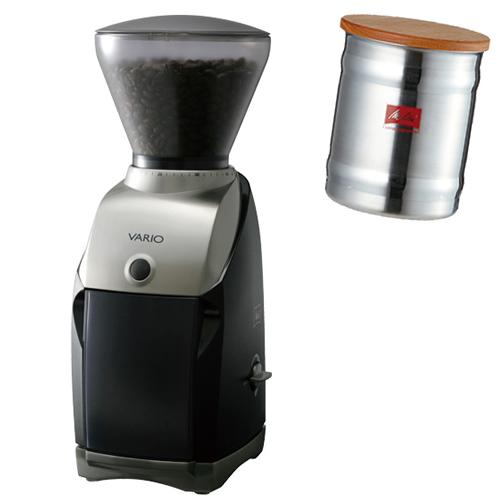 (ステンレスキャニスターセット)メリタジャパン 家庭用コーヒーグラインダー VARIO-V CG-122 [ミル][VARIOE][Melitta] (ラッピング不可)(快適家電デジタルライフ)