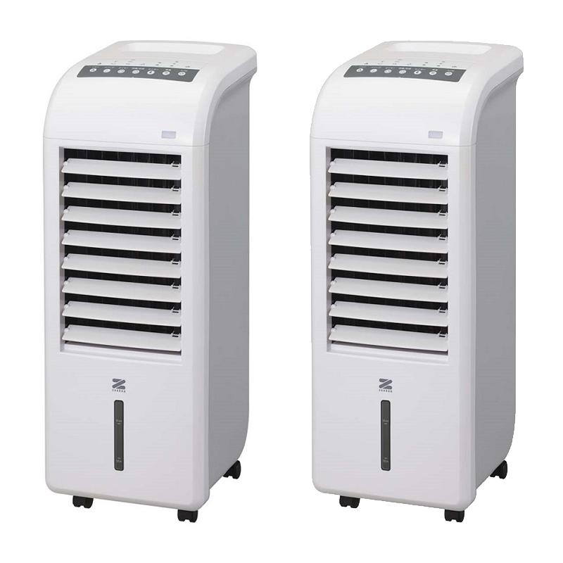 (2台セット)ゼンケン スリム温冷風扇 ヒート&クール ZHC-1200 ZHC1200 空調機器 (ZENKEN)(ラッピング不可)(快適家電デジタルライフ)