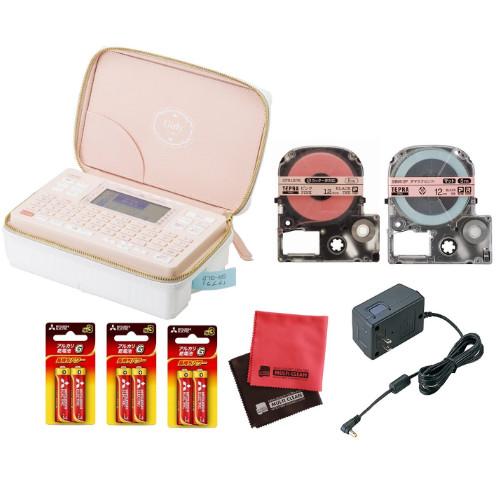 (りぼんテープ&ACアダプターセット)キングジム ラベルライター テプラPRO SR-GL2 ガーリーテプラ(快適家電デジタルライフ)