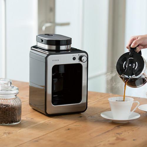(欠品:1月下旬)シロカ 全自動コーヒーメーカー ステンレスシルバー SC-A221SS(快適家電デジタルライフ)